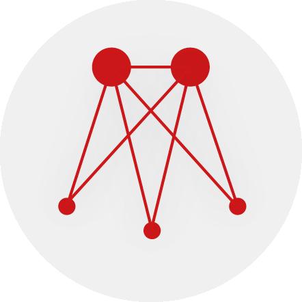 Livestreaming Icon das unidirektionalen Stream mit bidirektionaler Einbindung zeigt